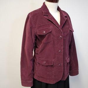 LL BEAN Corduroy Utility Jacket w/ Elbow Patches